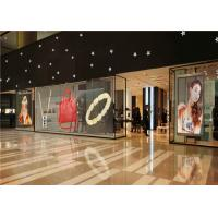 Cheap P3.91 - P7.82 Full Color Transparent Video Glass Screen For Shop Window for sale
