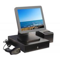 China Aluminium Alloy Point Of Sale Touch Screen Computer With Thermal Printer And Cash Drawer on sale