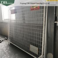 Cheap Galvanized Temporary Barricade Fence , Temporary Event Fencing 2.1x2.4m OD32mm for sale