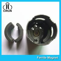Cheap C5 Grade Permanent Ferrite DC Motor Magnet High Performance R13.15*R8.8*H21mm for sale