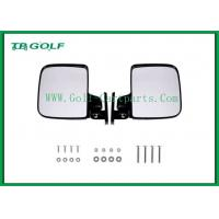 Foldable Golf Cart Side Mirrors With LED Light / Golf Buggy Accessories