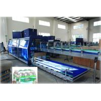 Cheap Full Automatic PE Film Heat Shrink Wrapper Liquid Packing Machine For Pet Bottle for sale