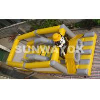 Cheap Panda Soccer Player Inflatable Obstacle Course , Inflatable Outdoor Play Equipment for sale