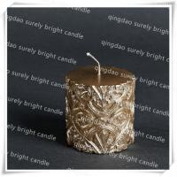 Cheap carve luxury pillar candle for sale