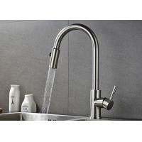 Cheap Pull Down Flexible Brushed Nickel Kitchen Faucet 10 - 90 Degree Working Temp ROVATE for sale