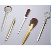 Cheap Popular zinc alloy gold / silver metal letter opener for promotion for sale