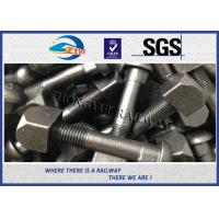Railway Track Fish Screw Bolt Railway Track Fittings For Fasten Rail Joints