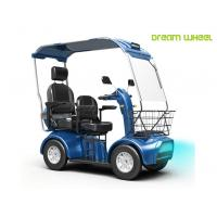 Cheap Handicapped Electric Mobility Scooter 48V 20Ah Double Seats 130Kgs Steel for sale
