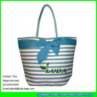 Cheap LDZB-095 large paper straw shopping bag big bowknot beach straw bags for sale