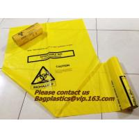 Cheap HDPE/LDPE Plastic Strength Black Medical Biohazard Waste Garbage Bag on roll for sale