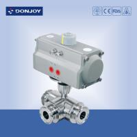 Cheap Sanitary Ball Valve Pneumatic  direct way PTFE Seat , 6 inch ball valves for sale