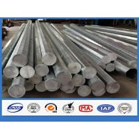 Cheap Round Column 40FT 12m Overhead Line Galvanized Steel Pole penetration over 95% for sale