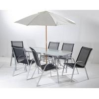 Cheap Outdoor Steel Folding Leisure Chairs / Textilene Chair With Table Set for sale