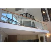 Cheap Popular design stainless steel spigot clear glass railing for balcony design for sale