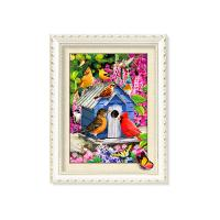 Cheap 30x40cm 5D Pictures With Plastic White Frame For Office Decoration for sale