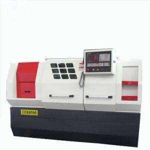 China CK6132 CNC Turning Lathe Machine , Mini Lathe Machine 2 Axis Pipe Threading Bar Feeder on sale
