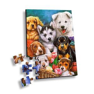 Cheap 100 Piece Plastic 3D Lenticular Printing Puzzle For Souvenir for sale