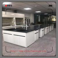 China Heavy Chemical Laboratory Furniture  / Lab Tables Work Benches With Faucet on sale
