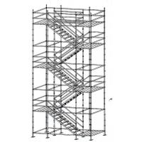 Cheap Flexibility Built - In Ladder Kwikstage Scaffolding / Modular System Scaffold With Wedge Fixing wholesale
