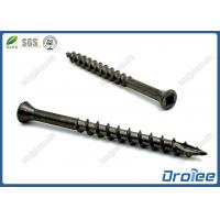 China Black Oxide Stainless Steel Square Drive Trim Head Deck Screw Type 17 on sale