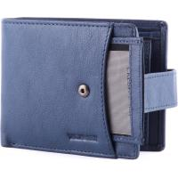 Cheap Portable PU Leather Wallet , seperately credit card holder with metal snap strap for keep safety for sale