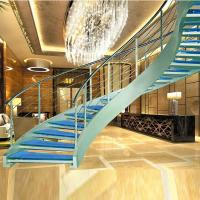 Cheap Luxury curved glass staircase for sale for sale