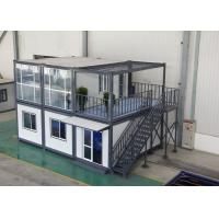 Cheap Gray Residential Prefab Container House Comfortable 6000mm * 2438mm * 2891mm for sale