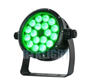 Cheap Exterior Wash RGBWA 5 In1 18 X 10 Watt Waterproof LED Par Light 60 Degree Beam Angle for sale