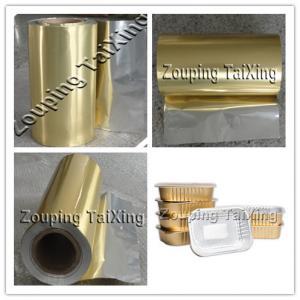 golden aluminium foil with pp film for contianer