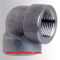 Quality ASTM B564 UNS N08800 45 / 90  deg  nickel  alloy  forged  NPT elbow ASME B16.11 wholesale