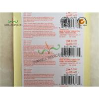 Cheap Custom Printed Labels With UPC Barcode Strong Adhesive For Clothes Packing wholesale