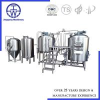 Cheap German Style Craft Beer Brewing Equipment With Fermentation Tanks And Hot Water Tank for sale