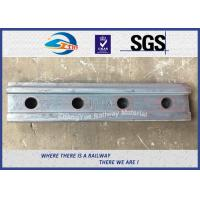Cheap High Tensile Railway Fish Plate For BS80A Steel Rail Standard Joint Bar 45# for sale