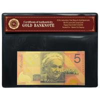 Quality Awesome New Australian $5 Banknote 24k GOLD For Business Gift wholesale