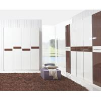 Cheap Hotel Interior Design by project Furniture in-wall Wardrobe cabinet high glossy melamine for sale