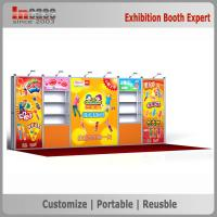 One Wall Easy Set Up 10x20 Trade Show Booth Aluminum Profile Exhibition Counters
