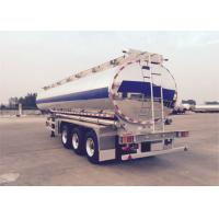 Cheap 3 Axles 40 Tons Liquid Tank Trailers Mirror Stainless Steel With Insulation Layer for sale