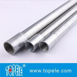 Electrical Galvanized Steel BS4568 Conduit GI Tube With Threaded Coupler, 10 Feet