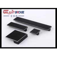Black Brushed Aluminum Crossbar Hidden Cabinet Pulls