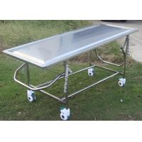 Cheap Adjustable Mortuary Equipment Embalming Operating Autopsy Table of Stainless Steel wholesale