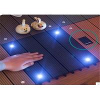 Cheap Wood  Plastic Composite DIY Flooring Board with colorful  light for sale