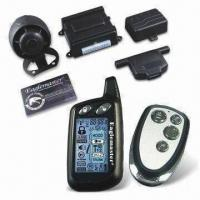 Cheap Two-way Alarm Car Alarm System with Turbo Time Mode an d1.5km Transceiver Range for sale