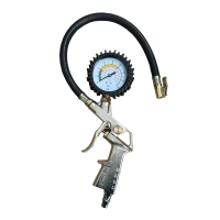 China Regulator Locking Chuck Fittings with Flexible Air Hose 220 PSI Tire Inflator Tire Pressure Air Inflator on sale