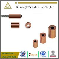 Cheap Round Copper Ferrule End Stop for Crimping Wire Rope for sale