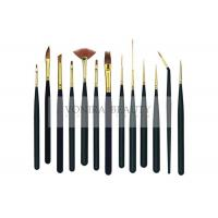 Cheap 13Pcs Mini Body Art Brushes Watercolour Paint Brushes Collection With Premium Synthetic Sable Hair for sale