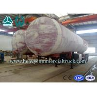 45M3 3 Axles Heavy Duty Lpg Propane Gas Tank Trailer With Air Suspension