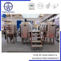 Cheap SS304 Craft Brewing Systems , Commercial Microbrewery Equipment 200L 300L for sale