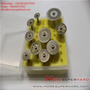China Electroplated diamond mini cut sheet for grinding, finishing, polishing glass ceramics  Alisa@moresuperhard.com on sale