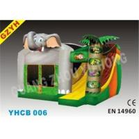 Cheap Attractive 3 in 1 Dumbo Inflatable Combo Bouncers Jumping House YHCB-006 for sale