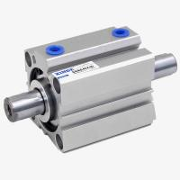 Cheap Double End Rods Pneumatic Cylinder Plastic Machine Air Cylinder Aluminium Cylinder Through-hole Mounting for sale